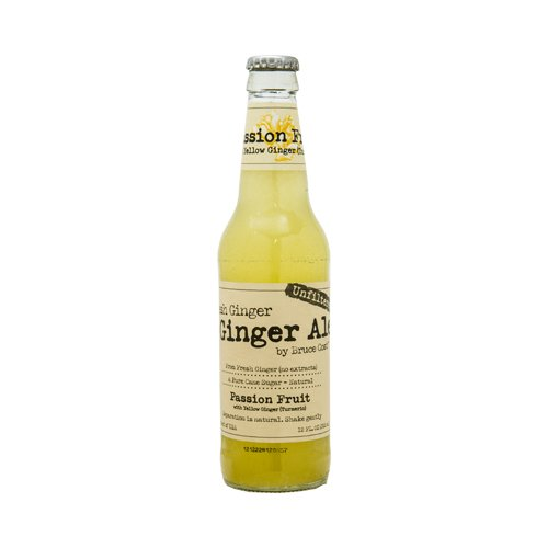 BCGA フレッシュジンジャーエール パッションフルーツ&ウコン 355ml 24本 Fresh Ginger Ale Passion Fruit with Yellow Ginger (Turmeric) 辛口 無ろ過 炭酸飲料 業務用