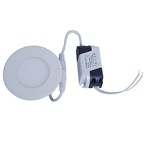 Jambo 1 X 85-265V Led Ceiling Panel Down Light White Circular Shell Power 3W 50-60Hz Warm White For Store Office