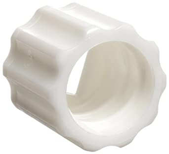 Value Plastics MLLR-1 Male Luer Lock Ring (For use with MTLP or LC23), White Nylon (25-Pack)