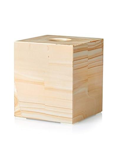Marble Crafter Myrtus Collection Sandstone Tissue Box Holder, Teak Stone