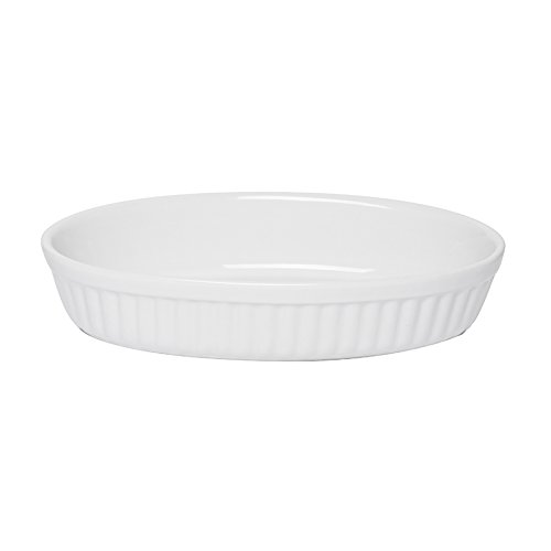 Excelsa Grande Forno Pirofila Ovale Ceramica, Bianco, 25.0 x 16.0 cm