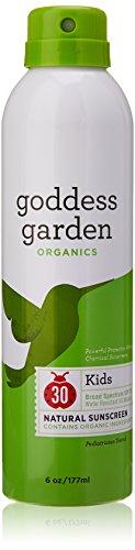 Goddess Garden Sunny Kids Natural Sunscreen Continuous SPF 30 Spray, 6.0 Ounce