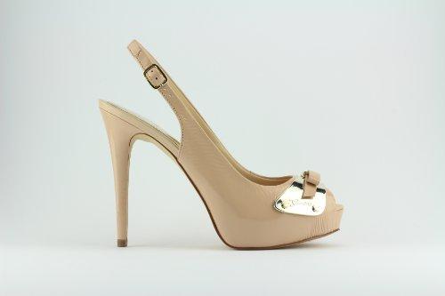 Scarpe Sandali Decolleté Donna Guess Mod. Pitane Court Shoe FL5PITLEA07 Col. Nudo in vernice. (38)