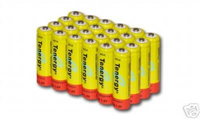 24 pcs Tenergy Nicd AA 1000mAh Batteries for Solar power, Solar Light Malibu etc
