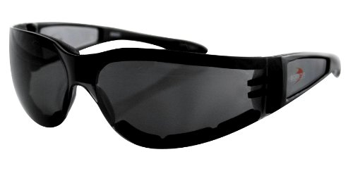 Bobster Eyewear Shield II Sunglasses , Distinct Name: Black/Smoke Lens, Gender: Mens/Unisex, Primary Color: Black ESH201 Picture