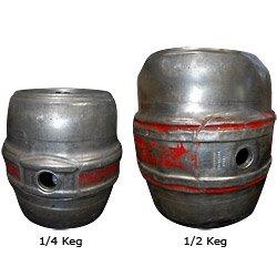 Empty Hoff Stevens Beer Keg: 1/4 Keg (7.75 gallons)