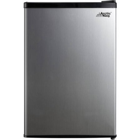 Arctic King 2.6 cu ft 1-Door Compact Refrigerator | Separate Chiller Compartment, Stainless Steel Look (Sub Zero Refrigerator Thermostat compare prices)