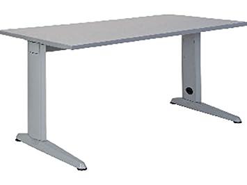 Mesa 200x80 estructura aluminio tablero haya