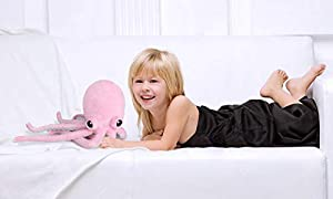 Ice King Bear Cute Big Eyes Octopus Large Stuffed Animals Plush Toy 22 Inches (Pink) (Color: Pink, Tamaño: 22 Inches)