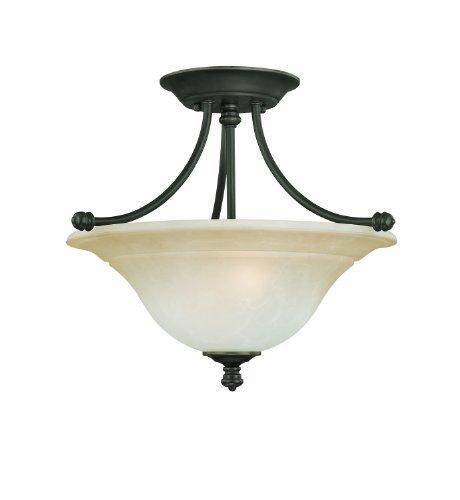Thomas Lighting Sl8662-62 Harmony Two-Light Semi-Flushmount Fixture, Aged Bronze