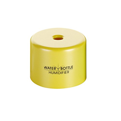 Uniquebella Mini Portable Water Bottle Cap Steam Air Mist Humidifier Usb Powered Yellow front-275489