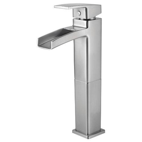 Pfister GT40-DF0K Kenzo Single Control Waterfall Vessel Bathroom Faucet in Brushed Nickel (Water Trough Faucet compare prices)