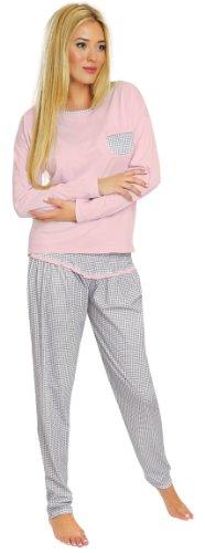 Italian Fashion IF Damen Schlafanzug Greta 0223 (Rosa, L)