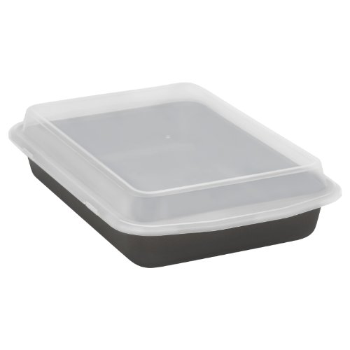 Baker's Secret 1107162 Signature Oblong Cook N' Carry Pan with Plastic Cover (Baking Pans With Covers compare prices)