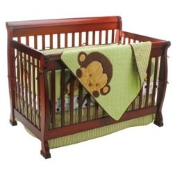 Mod Pod Pop Monkey 4 Piece Crib Bedding Set back-987142