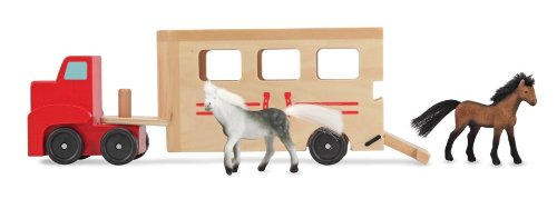 melissa-doug-horse-carrier-wooden-vehicle-play-set-with-2-flocked-horses-and-pull-down-ramp
