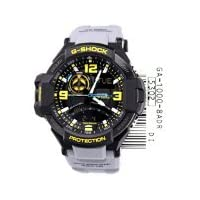Casio Aviation Black Analog-Digital Dial Grey Resin Men's Watch