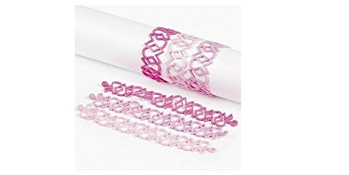 Pink Ribbon Cut Out Bracelets (2 Dozen) - Bulk