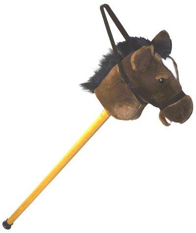 Plush Light Brown Giddy Pony Stick Horse 37
