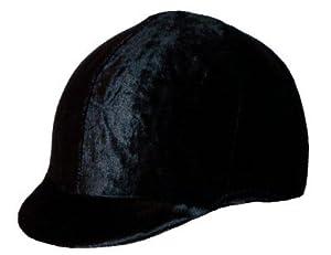 Equestrian Riding Helmet Cover - Black Velvet - NO BOW