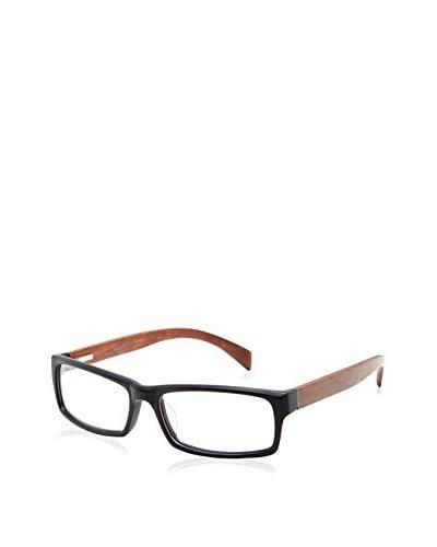 Ivory + Mason Women's Crescent Eyeglasses, Matte Black/Chestnut