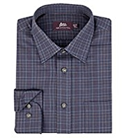 Slim Fit Pure Cotton Twill Checked Shirt