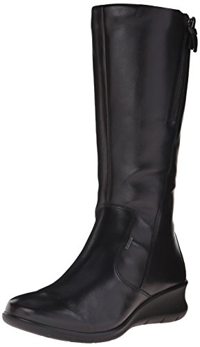 ECCO Babett Wedge Stivali da Equitazione, Donna, Nero(Black 11001), 38 EU