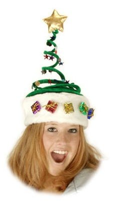 Springy Christmas Tree Party Hat