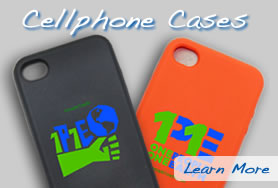 1P1E Cellphone Cases in Orange & Black