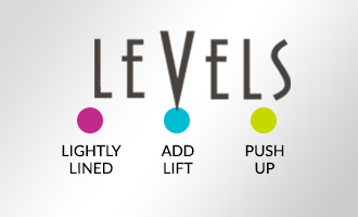Level 1 - Lightly Lined, Level 2 - Add Lift, Level 3 - Push Up