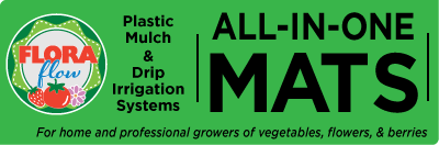 Drip irrigation and plastic mulch systems for gardeners and growers of vegetables, flowers and berries