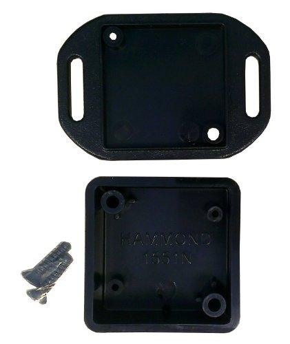 """Item Details: Hammond 1551Nflbk Black Abs Plastic Flanged Lid Project Box -- Inches (1.38"""" X 1.38"""" X 0.59"""") Mm (35Mm X 35Mm X 15Mm)"""