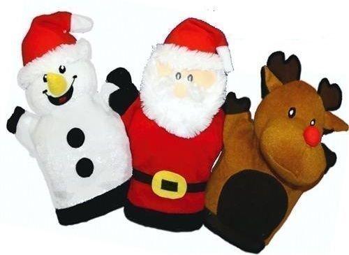 1 x tissu Peluche-Marionnette à main-saison des fêtes de Noël Père Noël