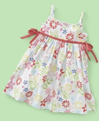 Charter Club Little Girl Floral Side-Tie Dress