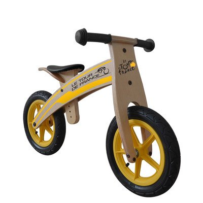 Tour-de-France-Wood-RunningBalance-Bike-12-inch-Wheels-Kids-Bike-Wood-Grain-Color
