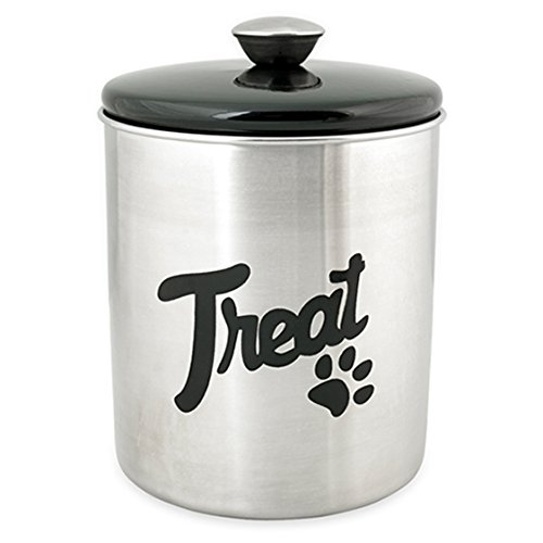 Buddys-Line-Stainless-Steel-Top-Treat-Jar-16-oz-Black