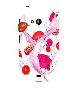 printtech Fruits Splash Back Case Cover for Nokia Lumia 540::Microsoft Lumia 540