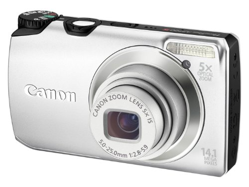 Canon PowerShot A3200 IS Digital Camera - Silver