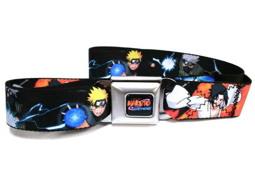Naruto Kakshi Sasuke Poses Seatbelt Belt-Holds Pants Up (Nra Belt Buckle compare prices)