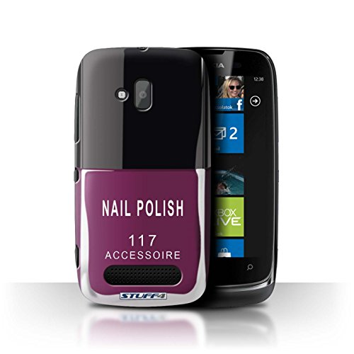 Stuff4 Hülle / Hülle für Nokia Lumia 610 / Rosa Muster / Nagellack/Make-Up Kollektion