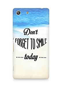 Amez Dont forget to Smile Today Back Cover For Sony Xperia M5