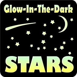 Glow-in-the-Dark 150 Stars Vinyl Wall Decals Set