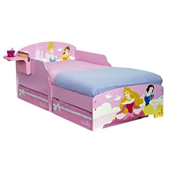 pas cher disney princess lit pour enfant avec rangement et table de nuit import grande. Black Bedroom Furniture Sets. Home Design Ideas