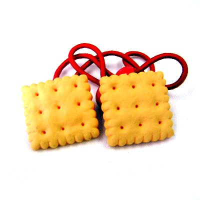 Cute Hair Accessory: Snack Time Crackers