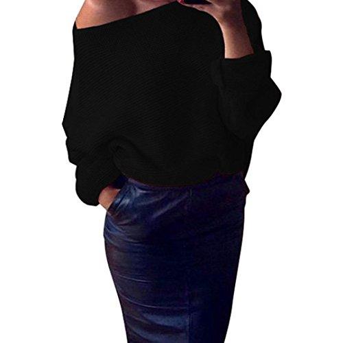 overdose-damen-schulterfrei-strickstrick-maxi-baggy-sweater-jumper-top-bluse-s-schwarz