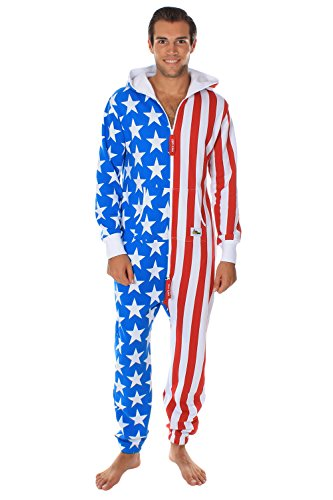 9db0f3173b4a American Flag Jumpsuit - Comfy USA Clothing Item by Tipsy - Import ...