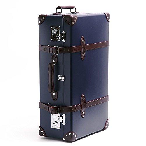 (グローブトロッター )GLOBE TROTTER スーツケース CENTENARY センテナリー 28インチ2輪トローリー (ネイビー×ウルシバーガンディ) GTCNTNBU28TC/NAVY*URUSHI BURGUNDY [並行輸入品]