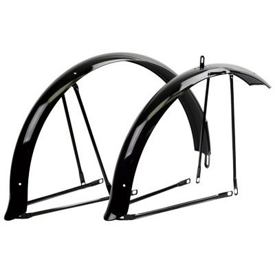 Pyramid Cruiser Bicycle Fenders, Full, Black