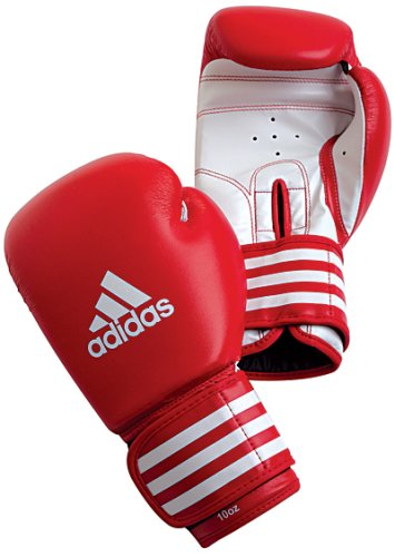 Adidas Training Boxing Gloves  Red/White  14oz