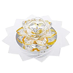 Magideal 3W Crystal Lotus Flower LED Light Colorful Night Lamp Party Home Decor 6